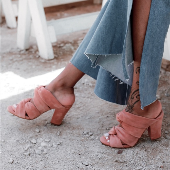 Lucky Brand Shoes - Pink Suede Mules